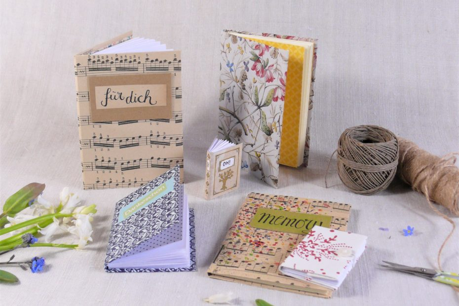 KLeine Bücher zum Muttertag binden und gestalten